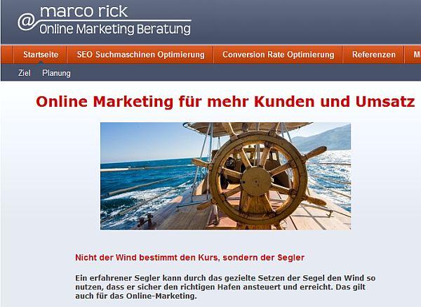 Erste Webseite Online Marketing Beratung
